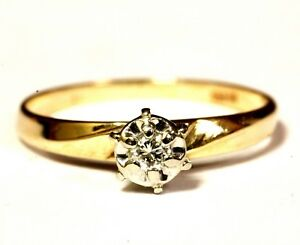 14k-yellow-gold-04ct-VS1-H-Illusion-Head-diamond-engagement-ring-1-4g-estate