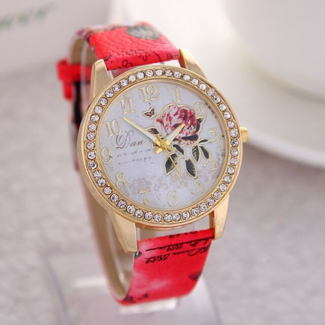 2015 New Brand Fashionable Casual Women Watch Diamond Leather  Wristwatches Hot