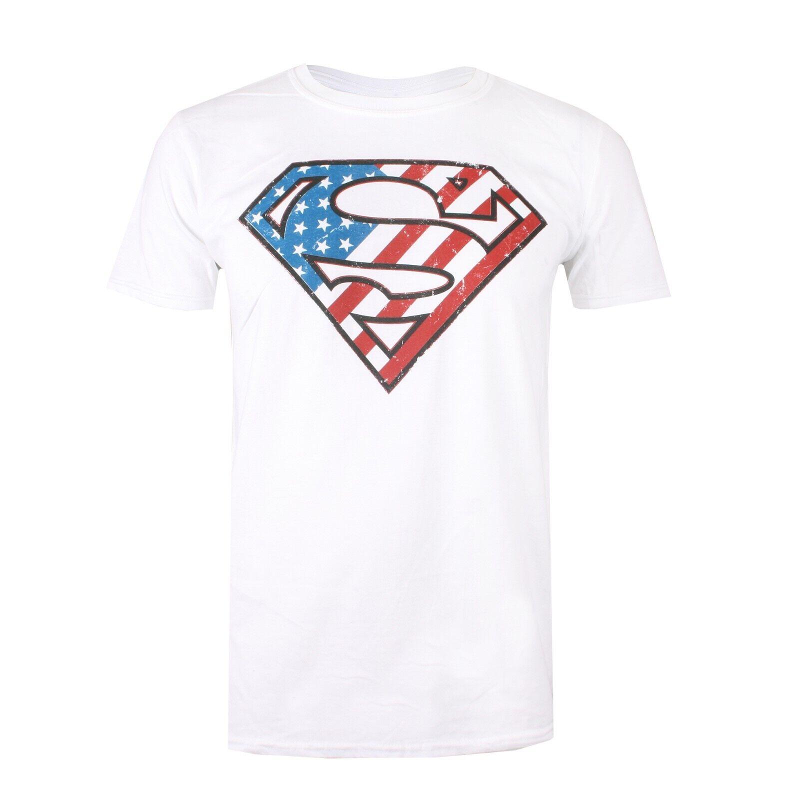 Details about DC Comics - Superman Logo - American Flag - Men s T-Shirt -  White - S-XXL 5d3923c5d6