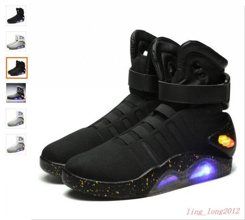 EUR 39-46 Shiny Back To The Future Light Warrior Key Chain Basketball Led shoes
