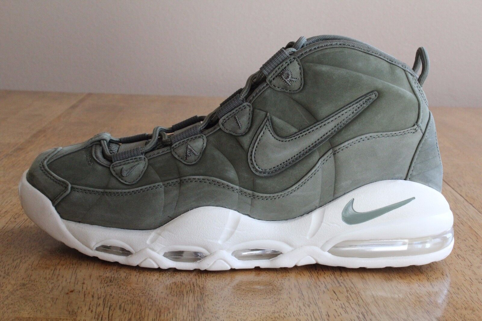 18 New Nike Air Max Uptempo QS Urban Haze Basketball shoes Men's SIze 10.5