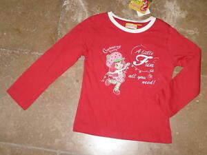 TOP-Glitzer-LA-Shirt-EMILY-ERDBEER-rot-rosa-oder-creme-Gr-92-98-und-98-104-NEU