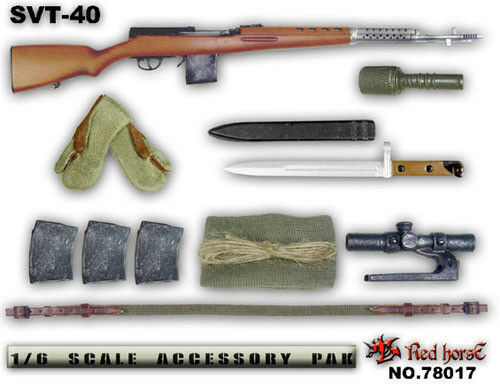 Red Red Red Horse 1 6 Accessory Pak  SVT-40  Set A c22b82