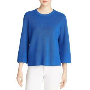 Eileen Fisher Womens Crew Neck Ribbed Merino Wool Sweater Size L Ebay