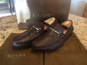 e9ff9295f24 La foto se está cargando Gucci-Road-Rodeo-entero-para-Hombre-Marron-Cuero-