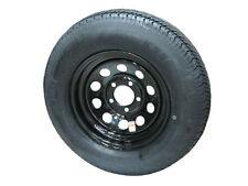 "*2* 175/80D13 LRC Kenda K558 Bias Trailer Tires on 13"" 5 Lug Black Mod Wheels"