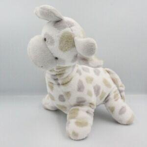 Doudou girafe blanche pois gris beige LA MAISON DE JEANNE - Vache - Girafe Class