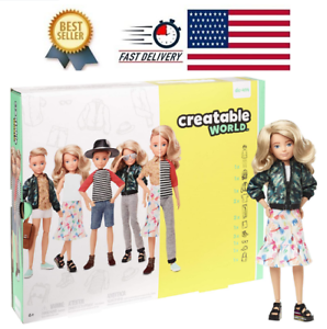 Creatable World Deluxe Character Kit Customizable Doll Blonde Wavy Hair