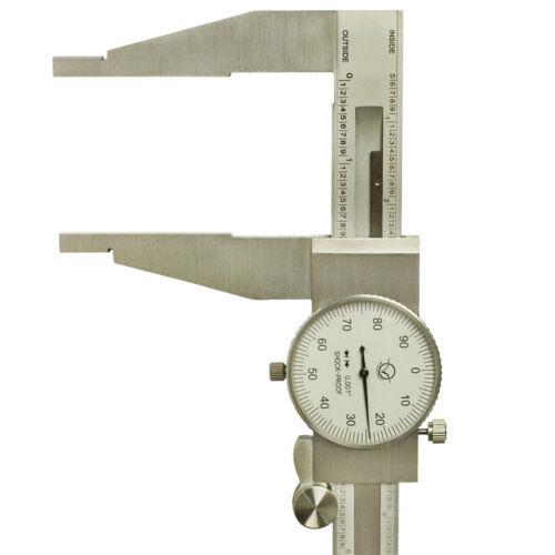 HD 18/'/' Stainless Steel Long Range Dial Caliper GRAD 0.001/'/' OD ID Measuring