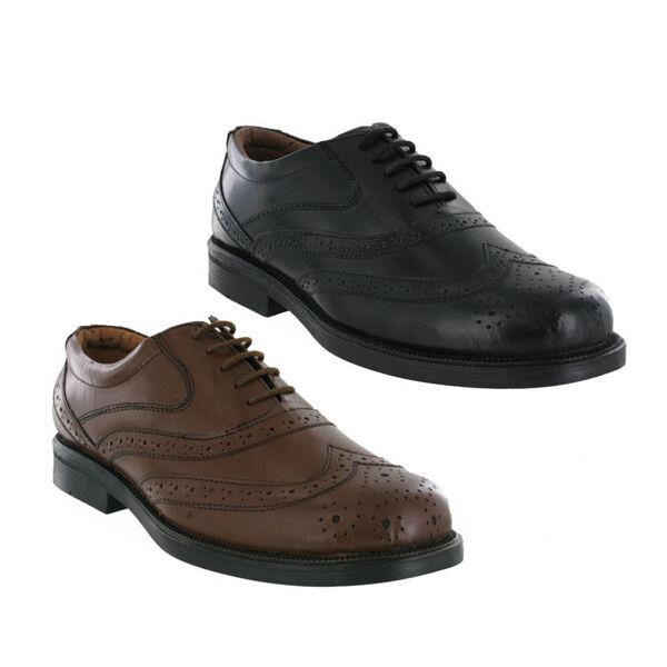 Large pour homme en cuir chaussures / de montage vous Noir / chaussures Marron uk tailles 6-14 4913b3