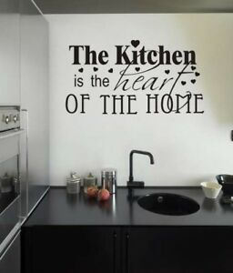 Maison De Cuisine Mur Drole Autocollant Decor Vinyle Citation