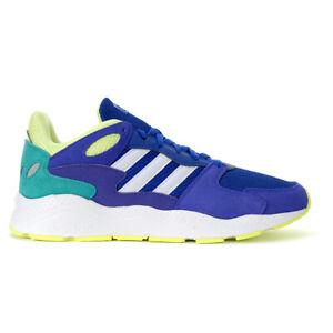Adidas Men's Crazychaos Collegiate Royal/Cloud White/Hi-Res Yellow Running Sh...