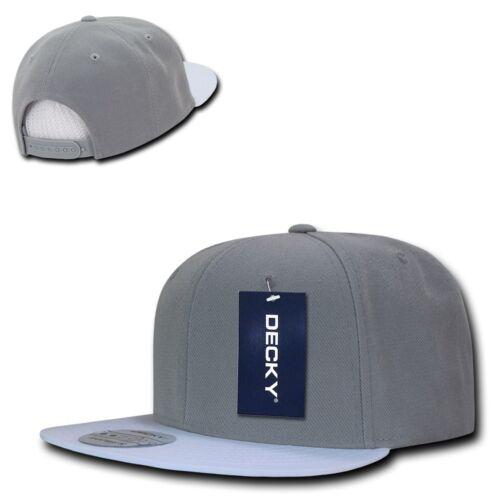 DECKY Brim Two Tone Snapbacks 6 Panel Baseball Hats Caps Unisex