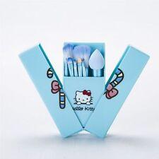 8pcs cute hello kitty make up brush set blue makeup brushes with box