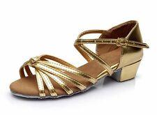Ballroom Salsa tango heeled latin dance shoes children girls women size 24-41