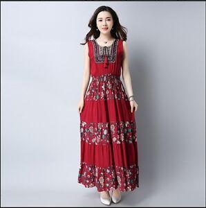 54f244427084f Trendy Korean Style Long Maxi Flower Print Sweet Summer Slim Pleated ...