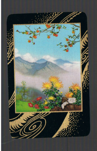 Swap Playing Cards 1 VINT   AWESOME  MOUNTAIN  /& GARDEN  VIEW  GOLD TRIM  344