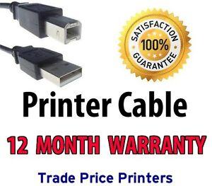 NEW-USB-Printer-Cable-Lead-for-HP-DESKJET-D1660-D2660-F2480-12-Month-Warranty