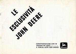 PUBBLICITA-039-WERBUNG-034-JOHN-DEERE-034-LE-ESCLUSIVITA-039-JOHNN-DEERE-034