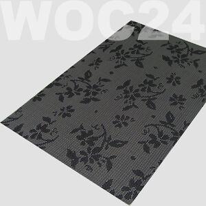 tischset platzdeckchen platzset abwaschbar grau schwarz kunststoff pvc ebay. Black Bedroom Furniture Sets. Home Design Ideas