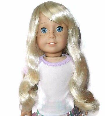 "Custom Doll Wig 10-11"" Platinum Blonde - Fits Caroline"