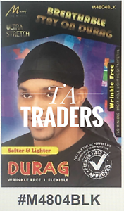 MURRY COLLECTION BREATHABLE STAY ON DURAG M4804BLK