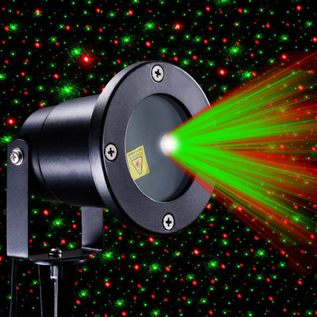 Christmas Star Light Red Green Shower Laser Led Motion Projector Outdoor Garden