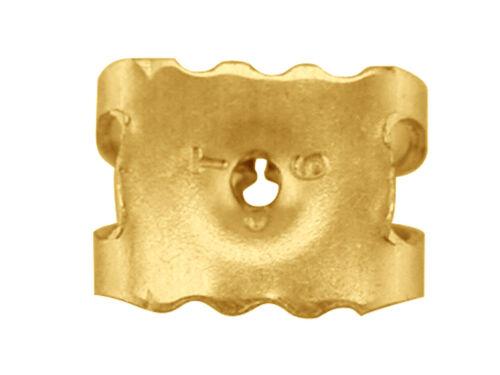 375 real de oro amarillo 9ct pergaminos Mariposa Backs Stud con forma de gota cubiertos tallos Nuevo