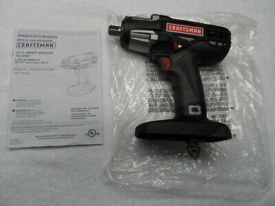 "Craftsman C3 /½/"" Heavy Duty Impact Wrench Kit Powered By 4ah XCP Cordless Tools High Torque"