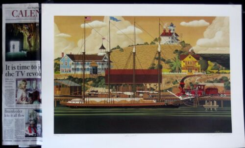 San Pedro Harbor California Herb Fillmore Limited Edition art prints