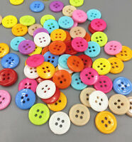 100X Resin buttons sewing scrapbook mixed color 4 holes Decorative craft 1.3mm