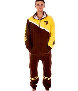 20f1dd784643 AFL Onesie Footy Suit - Hawthorn Hawks Infant Kids Youth Adult - All ...