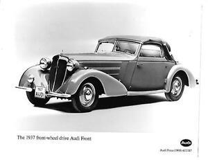 """1937 Front Wheel Drive Audi Front Historique Contenu Press Photo """"brochure""""-afficher Le Titre D'origine"""