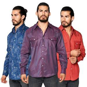LW-Men-039-s-Pearl-Snap-Tribal-Stylish-Printed-Woven-Western-Vaquero-Rodeo-Shirt