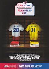 Play Off finale 2011 LEAGUE 2 due Torquay V Stevenage Nuovo di zecca programma