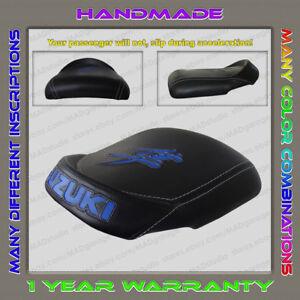 Unique-Custom-REAR-Seat-COVER-Black-Blue-Hayabusa-99-07-First-Gen