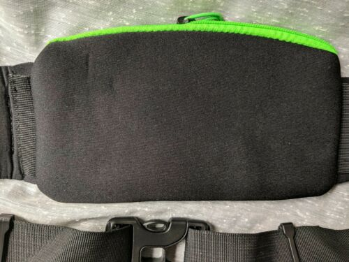Finish It Gear Running Hiking Sport Waist Fanny Pack Black Green Neoprene RB01