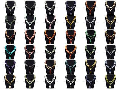 Natural 10mm Gemstone Buddhist 108 Beads Prayer Mala Long Necklace Multi-Purpose