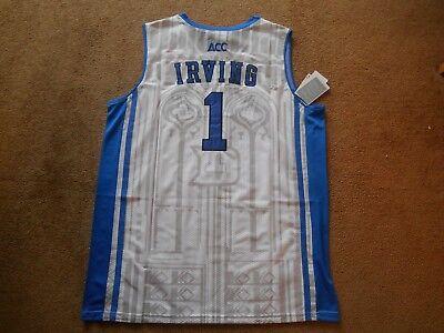 3475be85825 Kyrie Irving  1 Duke Blue Devils STITCH White Basketball Jersey Men X-large  NEW