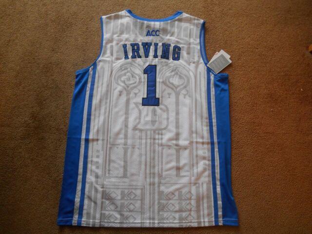 san francisco dc681 4954c Kyrie Irving #1 Duke Blue Devils STITCH White Basketball Jersey Men XL TAGS  NEW! | eBay