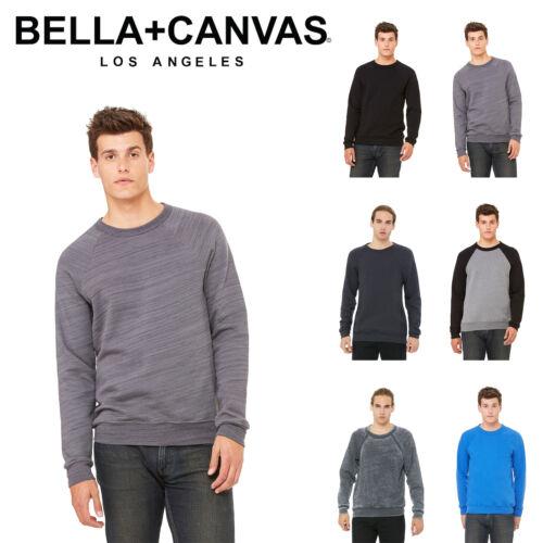 Bella Canvas Unisex Sponge Fleece Pullover Crewneck Sweatshirt Blank Plain New