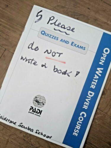 71023 PADI Open Water Diver Course Exam Book Log Books/ Manuals ...