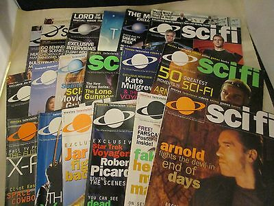 Star Trek Scifi Channel Magazine Lot Of 16 Vols 6-9 Posters X Files 1999-2003