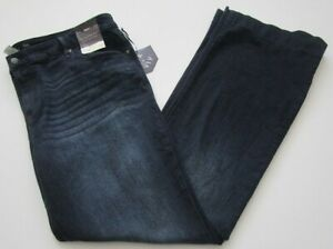 New-Ava-amp-Viv-Women-s-Denim-Flare-Blue-Jeans-22W-Plus-Dark-Wash-Super-Stretchy