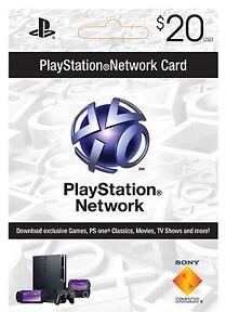 100% Vrai $20 Playstation Carte Réseau Pour Psn Psp Ps3 * Neuf *-afficher Le Titre D'origine