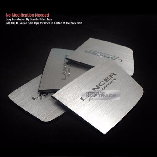 Door Catch Hairline Metal Silver Garnish Molding For MITSUBISHI 2008-2015 Lancer