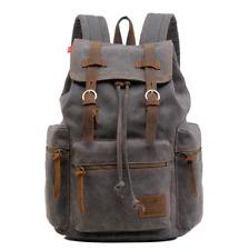 item 1 Unisex Vintage Canvas Leather Backpack Rucksack School Satchel  Laptop School Bag -Unisex Vintage Canvas Leather Backpack Rucksack School  Satchel ... 18d292103d
