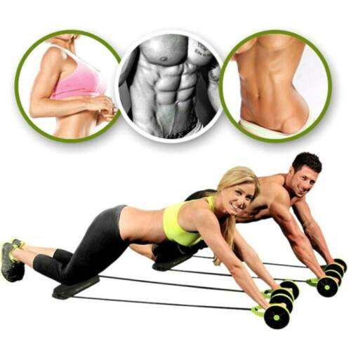 Unisex Abdominal Roller Gym Sport Muscle Exercise Training Fitness With Mat Details about  /HOT