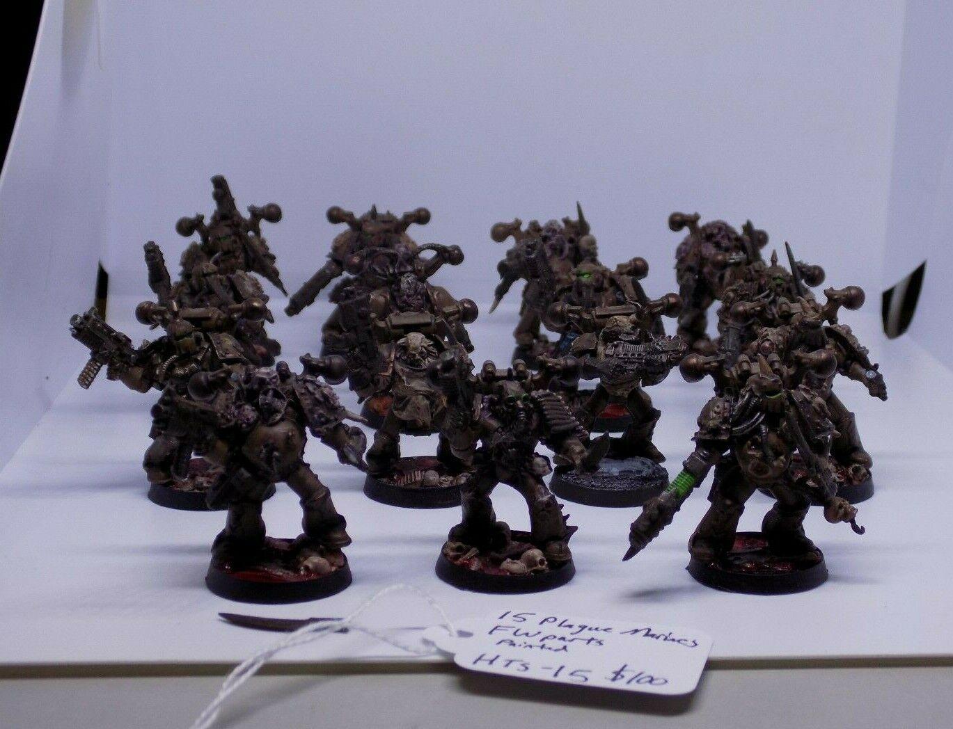 Warhammer 40k Chaos Space Marines 15 Death Guard Plague Marines (HTS 15)