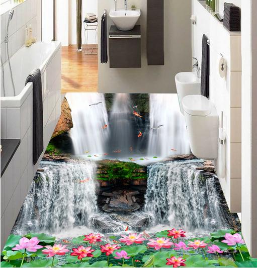 3D Wasserfall 52 Fototapeten Wandbild Fototapete Tapete Familie DE Lemon